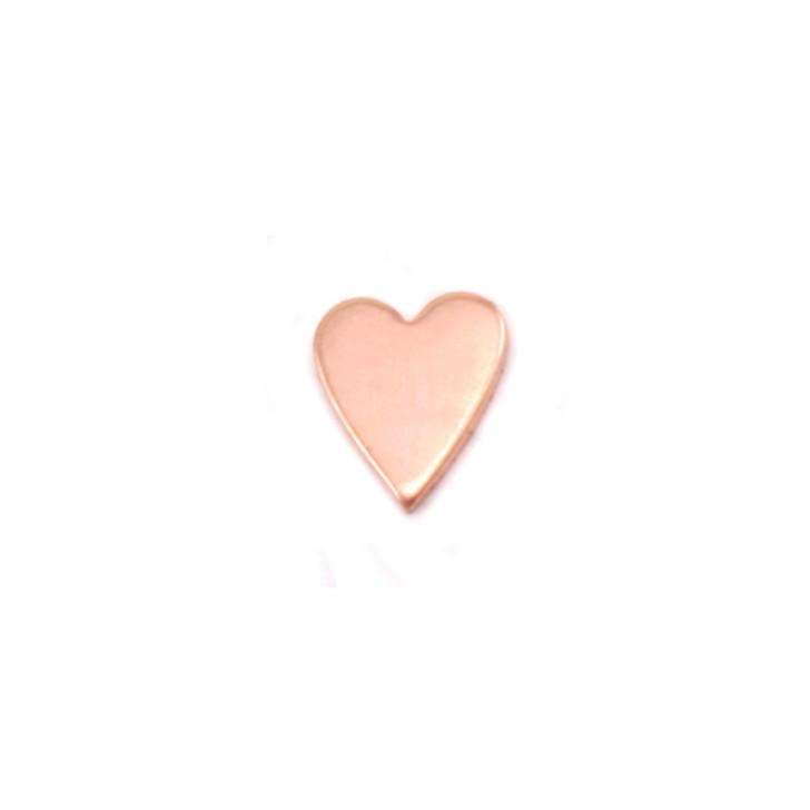 Copper Solderable Accent  - Mini Skinny Heart 24g