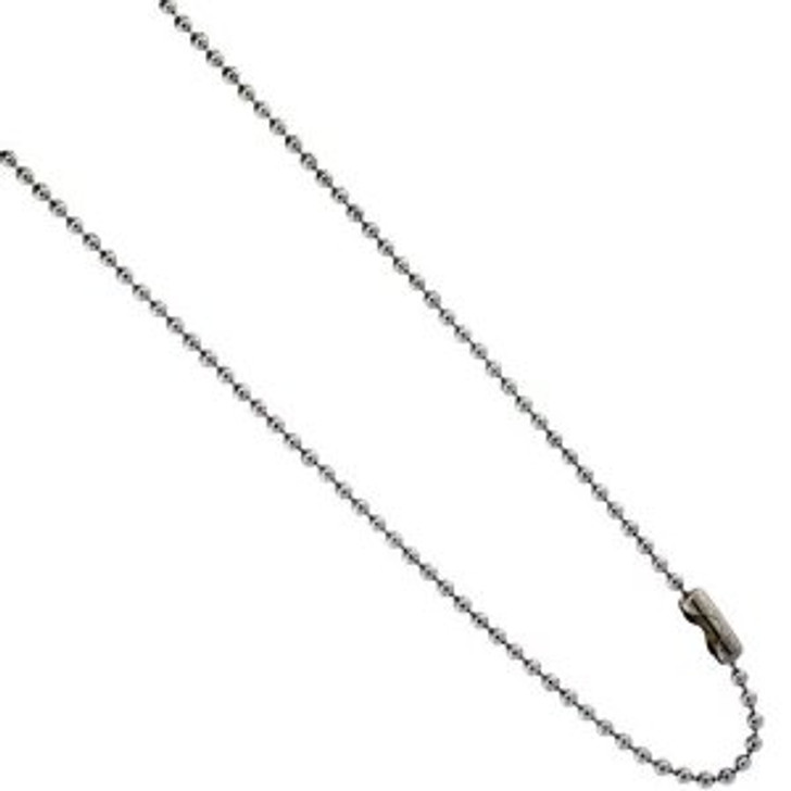 316L Stainless Steel 1.5mm Ball Chain with Clasp