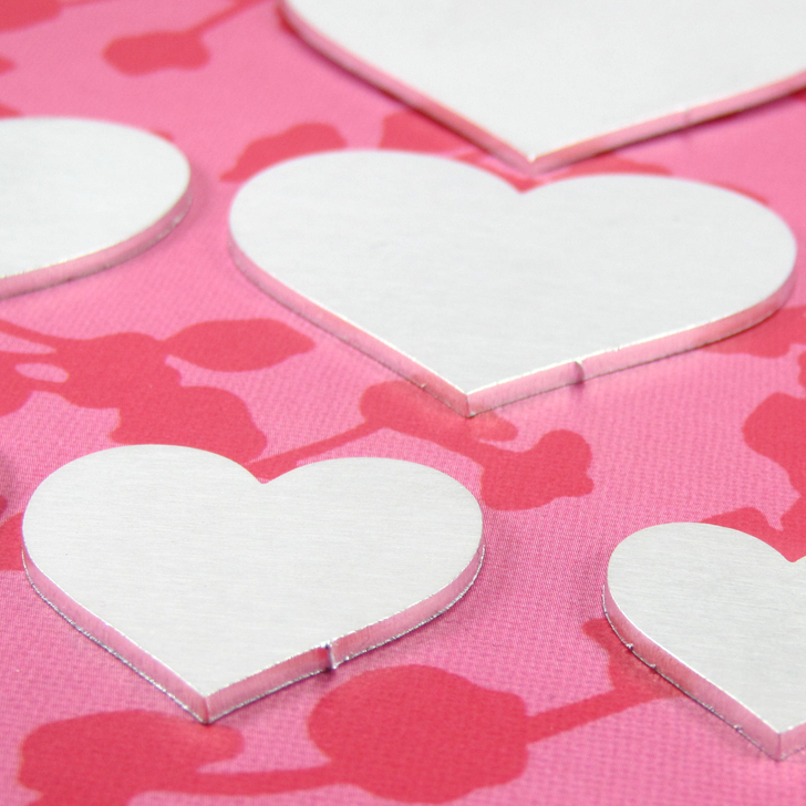 2mm Chunky Aluminium Heart Stamping Tag Blank - Select Size
