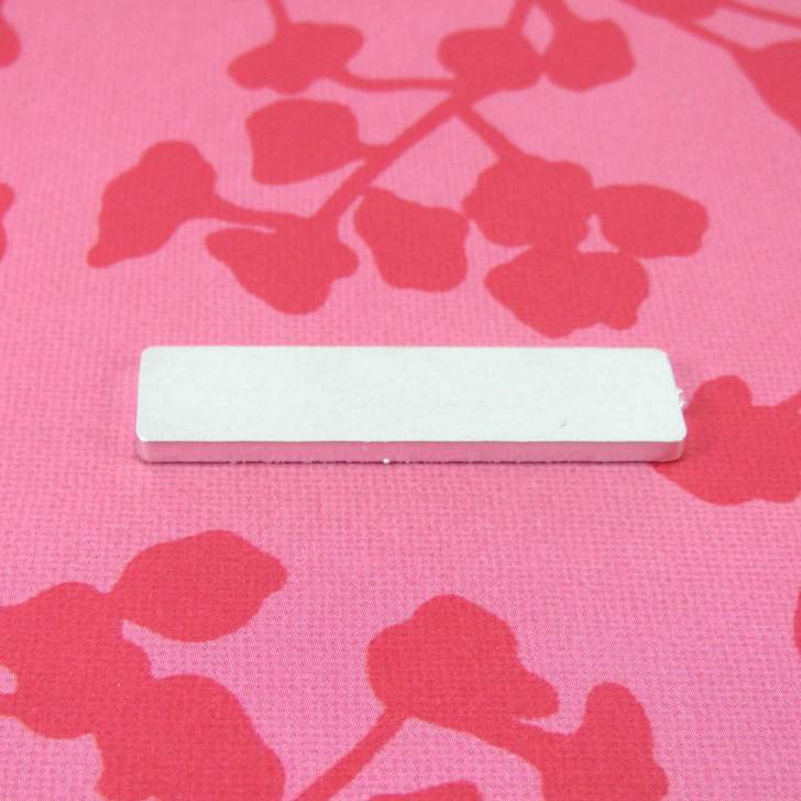 2mm Chunky Aluminium Rectangle Stamping Tag Blank - 40x10mm