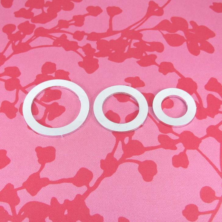 2mm Chunky Aluminium Circle Washer Stamping Tag Blank - Select Size