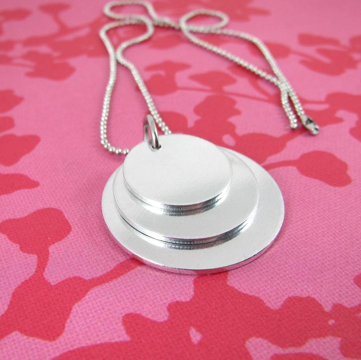 1.2mm Aluminium Circle Stacker Necklace Set