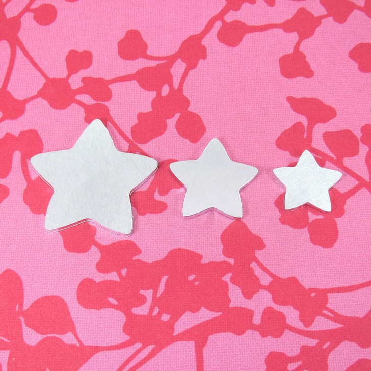 Kawaii Star Aluminium Stamping Tag Blank - 2mm - Select Size
