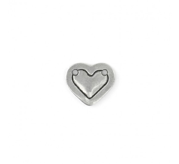 IMPRESSART -  Small Pewter Heart Stamping Blank Border Connector