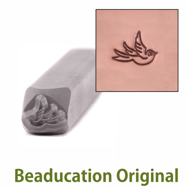 Small Right Facing Swallow Design Stamp 5.5x4.5mm