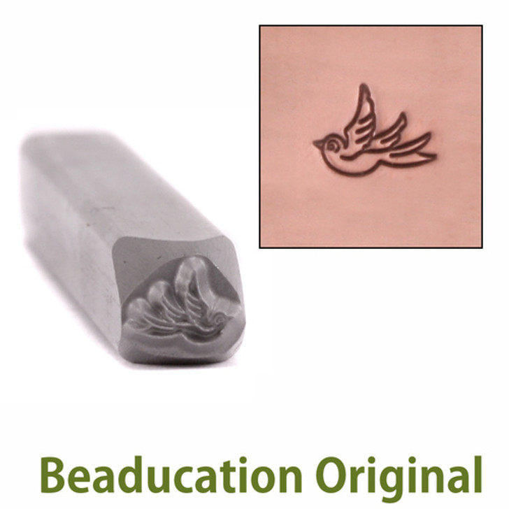 Small Left Facing Swallow Design Stamp 5.5x4.5mm