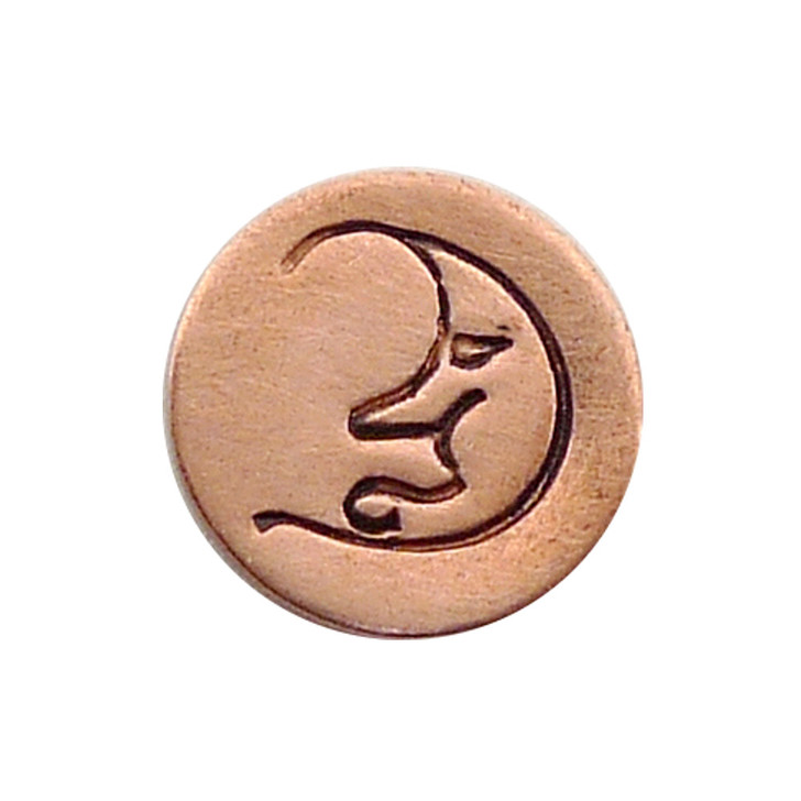 The Urban Beader - Moon Face Design Stamp - 6mm