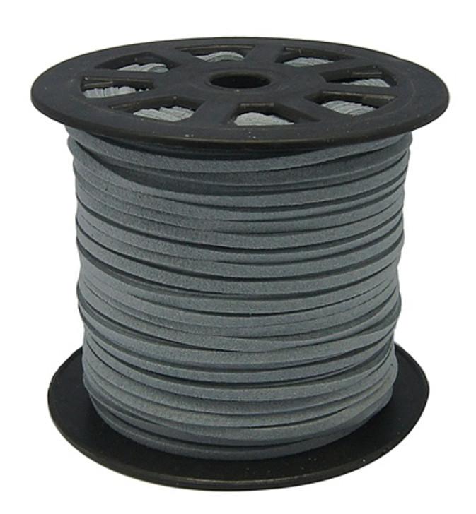 Faux Suede Cord 3x1.5mm - Dark Grey