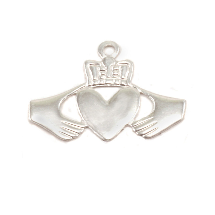 Sterling Silver Solderable Accent  - Claddagh 24g
