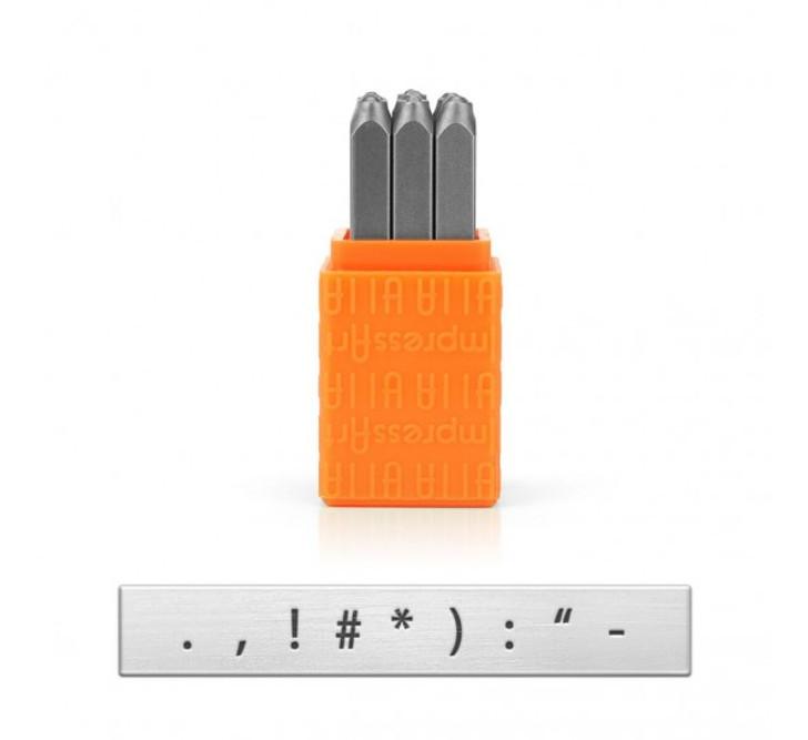 IMPRESSART - Punctuation Basic Metal Stamp Set  2.5mm