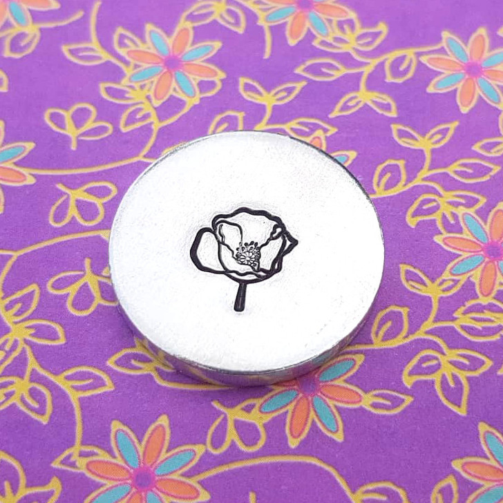 Mrs Poppy Metal Design Stamp - 10mm