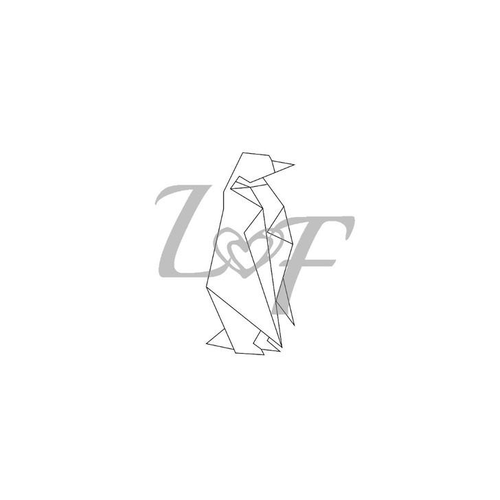 Penguin Origami Metal Design Stamp - 10mm