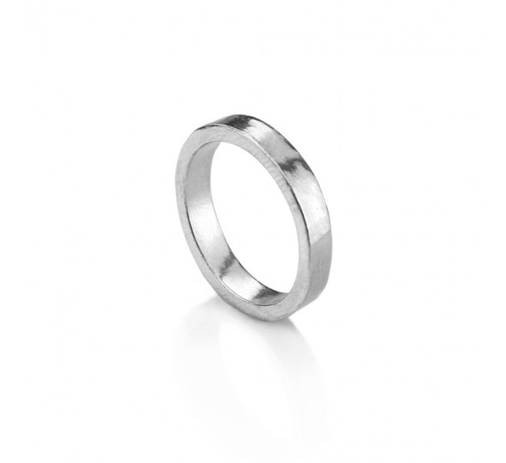 Pewter Ring, UK Size L 1/2, USA size 6, 4mm wide