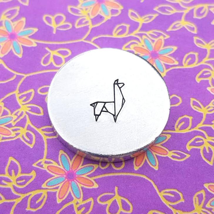 Llama Origami Metal Design Stamp - 10mm