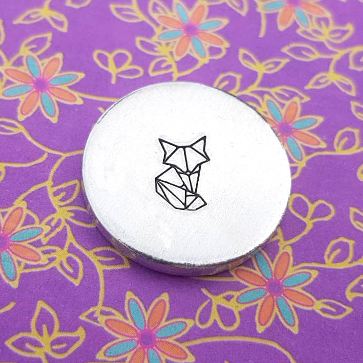 Fox Origami Metal Design Stamp - 10mm