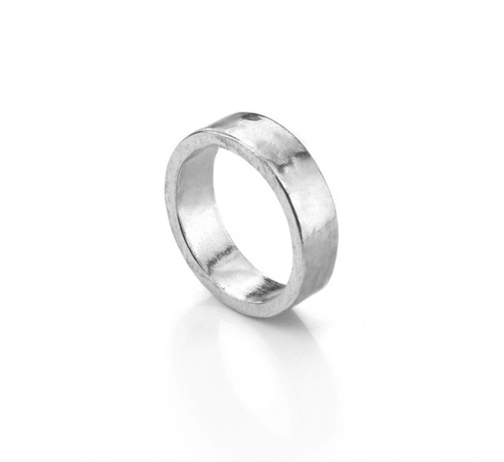 Pewter Ring, UK Size Q, USA size 8, 6mm wide