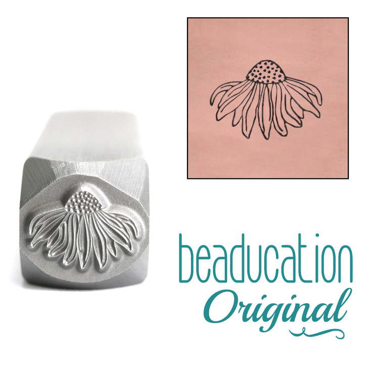 Echinacea Flower Design Stamp 10.5x8.3mm