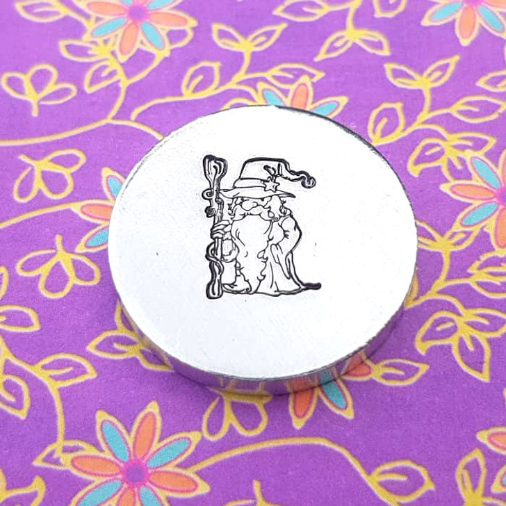 Wizard Metal Design Stamp - 13mm