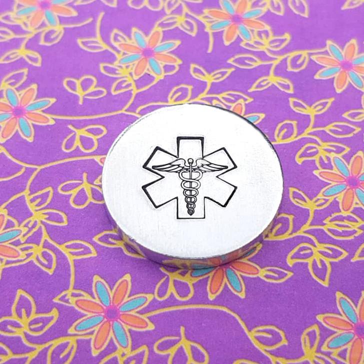 Medical Universal Symbol Metal Design Stamp - 13mm