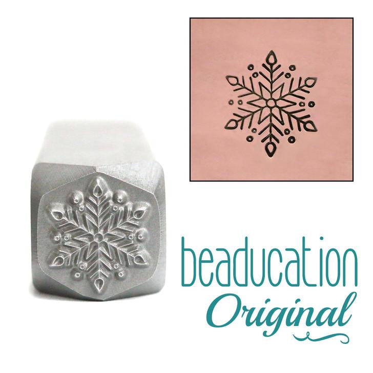 Classic Snowflake Metal Design Stamp - 10mm Beaducation
