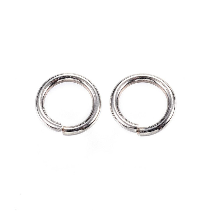 8mm Chunky Stainless Steel Jump Rings