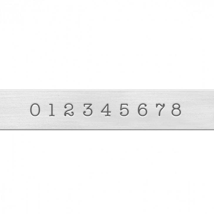 Basic Typewriter Economy Numbers Metal Stamp Set  3mm - ImpressArt