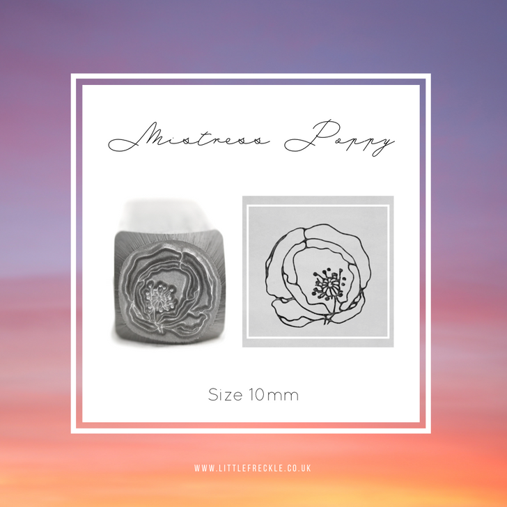 Mistress Poppy Metal Design Stamp - 10mm