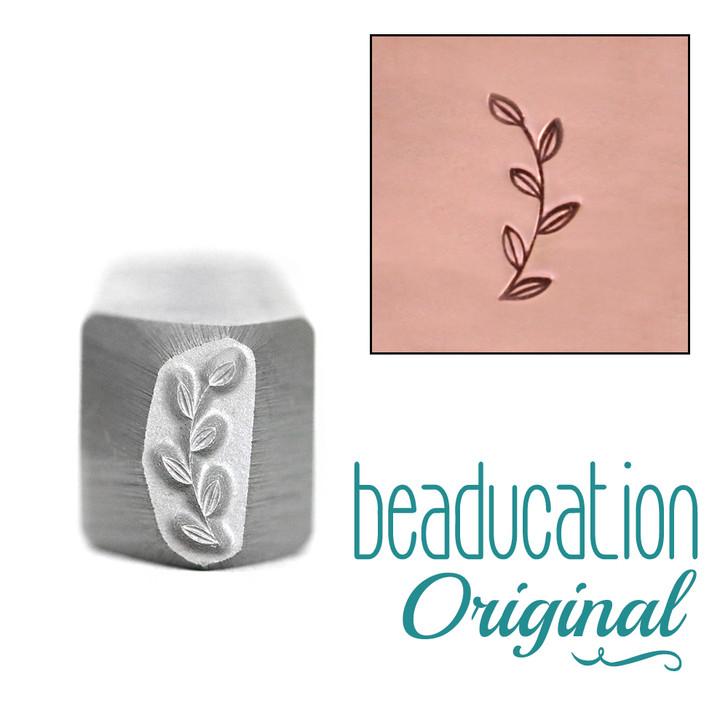 Garden Branch Border Design Stamp 10x3.5mm Opposing Direction