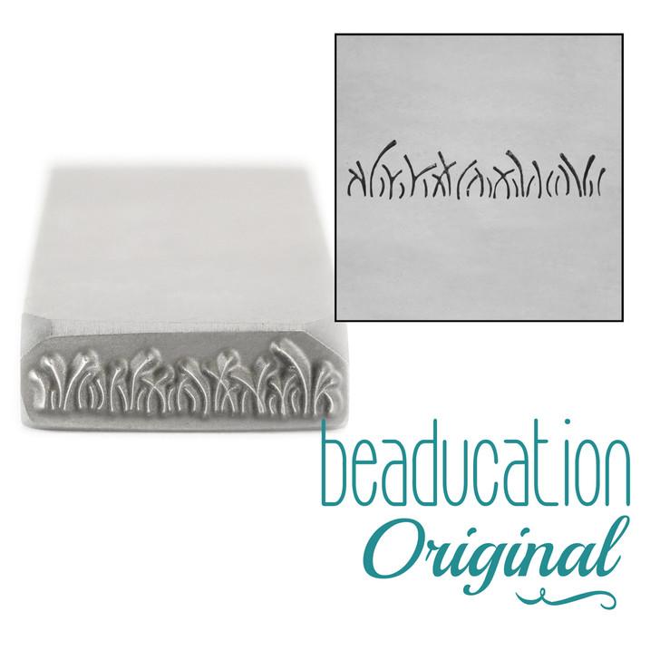 Grass Metal Design Stamp - 17mm Beaducation