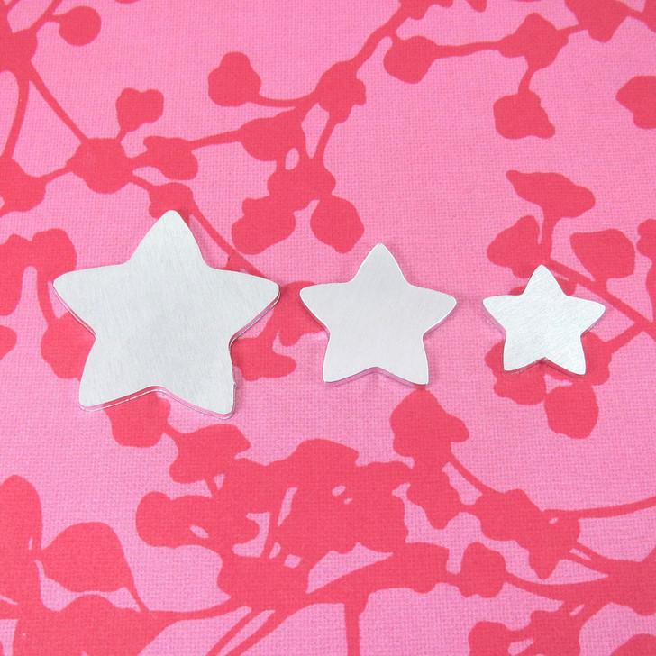 Kawaii Star w/HOLE Aluminium Stamping Tag Blank - 2mm - Select Size