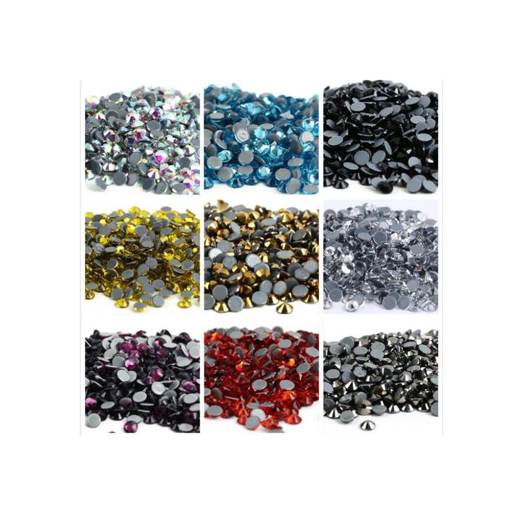 Flat back Dapping Birthstone Crystals  - 2mm
