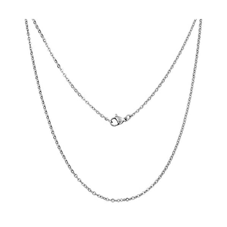"Silver Stainless Steel Necklace 20"" Chain"