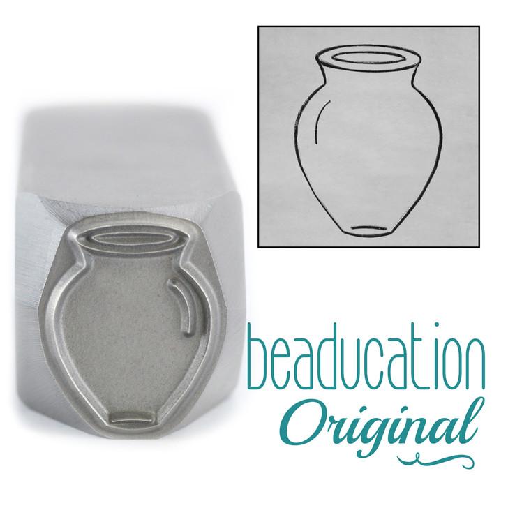 Vase Tall Wide Metal Design Stamp - 17mm Beaducation