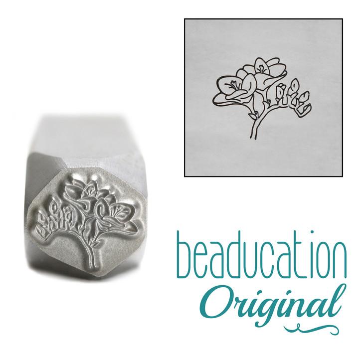 Freesia Flower Metal Design Stamp - 10.5mm Beaducation