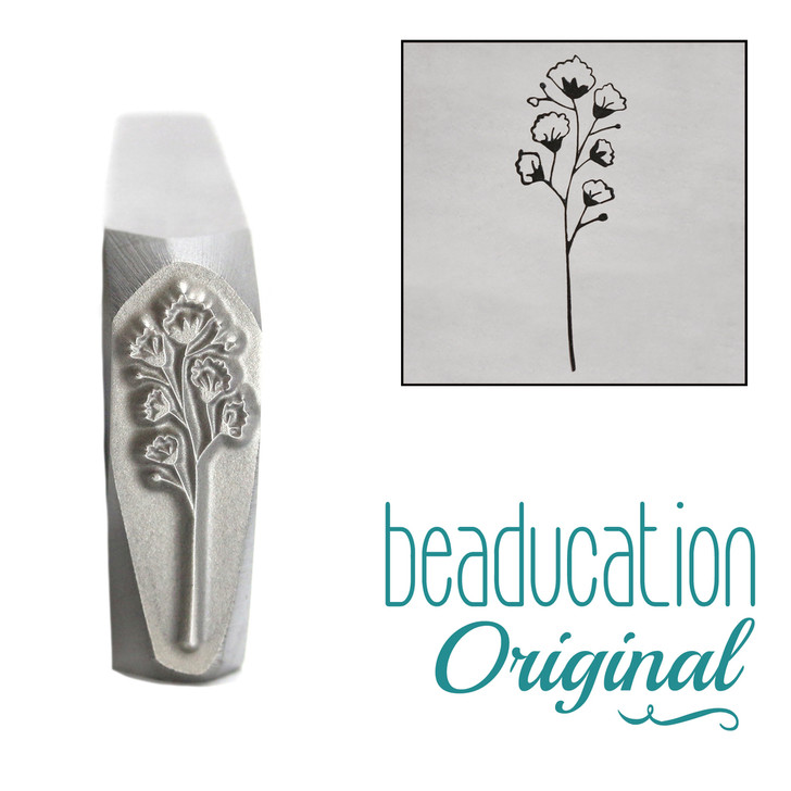 Baby's Breath Metal Design Stamp - 15mm Beaducation