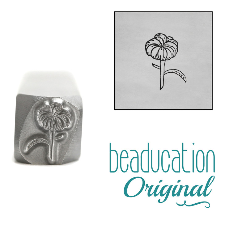 Chrysanthemum Bud Metal Design Stamp - 8.1mm Beaducation