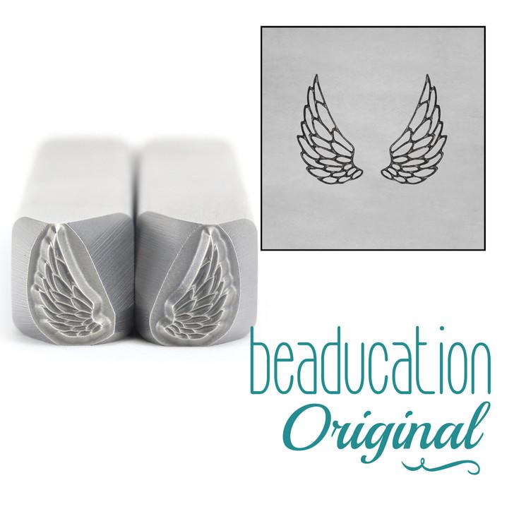 Wings Duo Metal Design Stamp - 8mm Beaducation