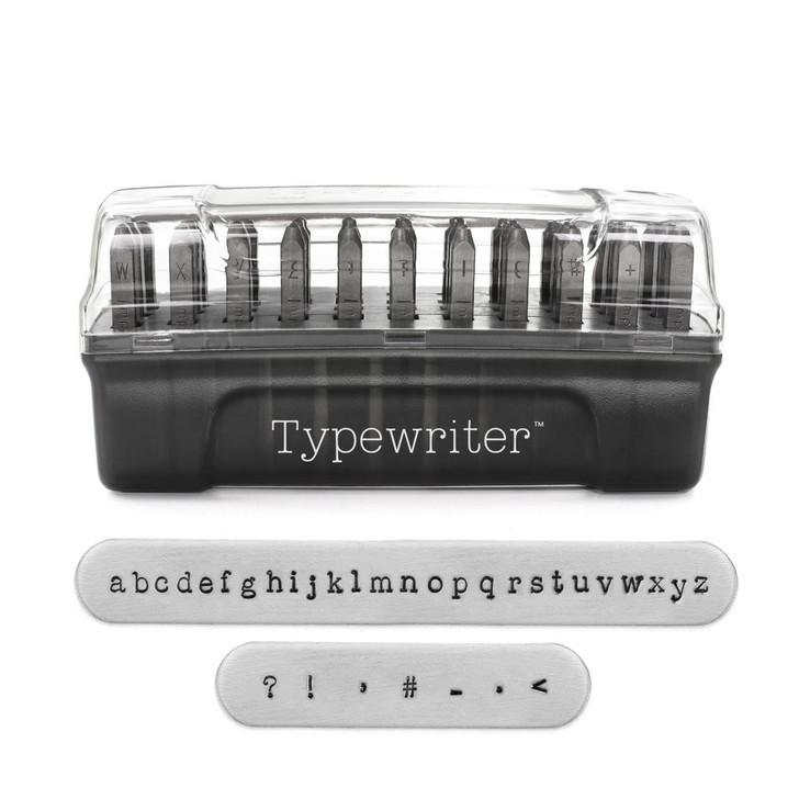 Typewriter Signature Letter Stamps Lowercase 3mm