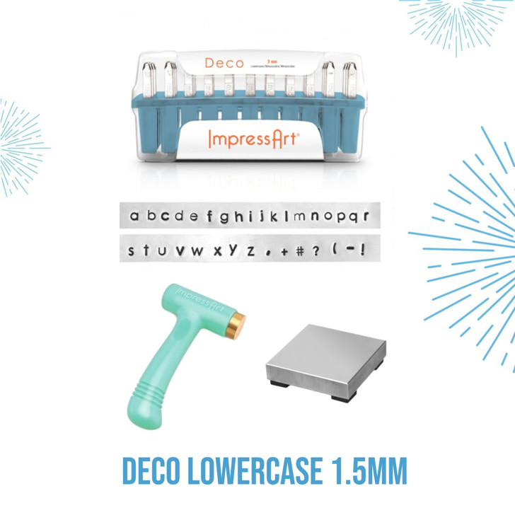 Deco Lowercase 1.5mm Metal Stamping Kit