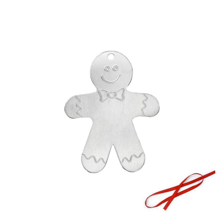 Gingerbread Man Ornament Blank 3pk