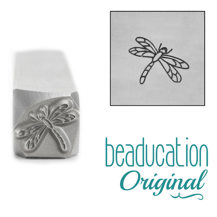 Dragonfly Metal Design Stamp 8.2mm x 6.6mm