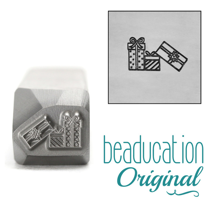 Pile of Gifts Presents Metal Design Stamp 9.5mm