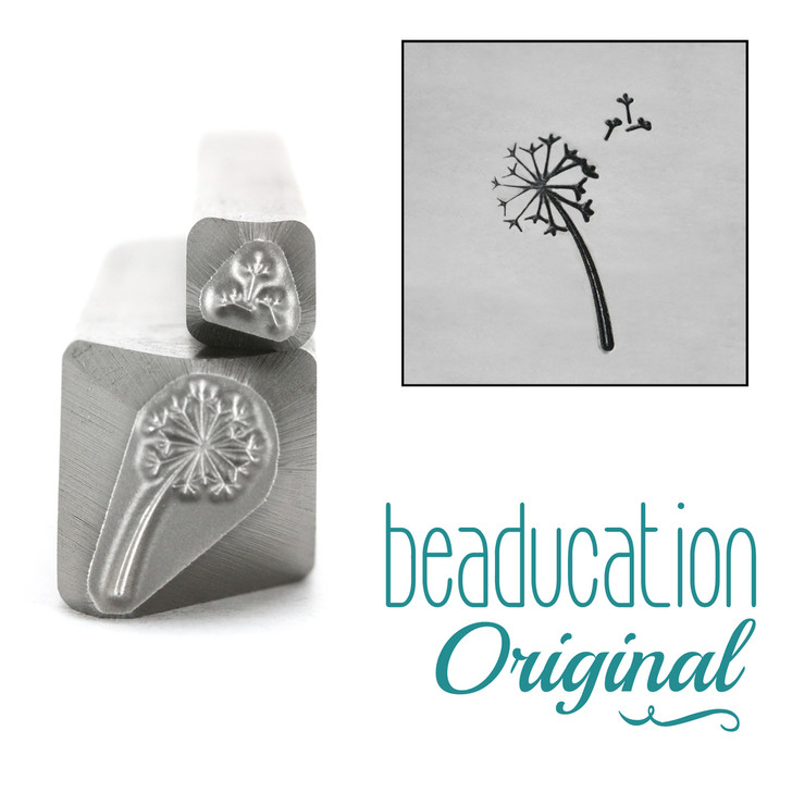 Dandelion & Fluff Flower Duo Metal Design Stamps 11mm