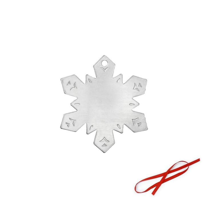 Snowflake Ornament Blank 3pk