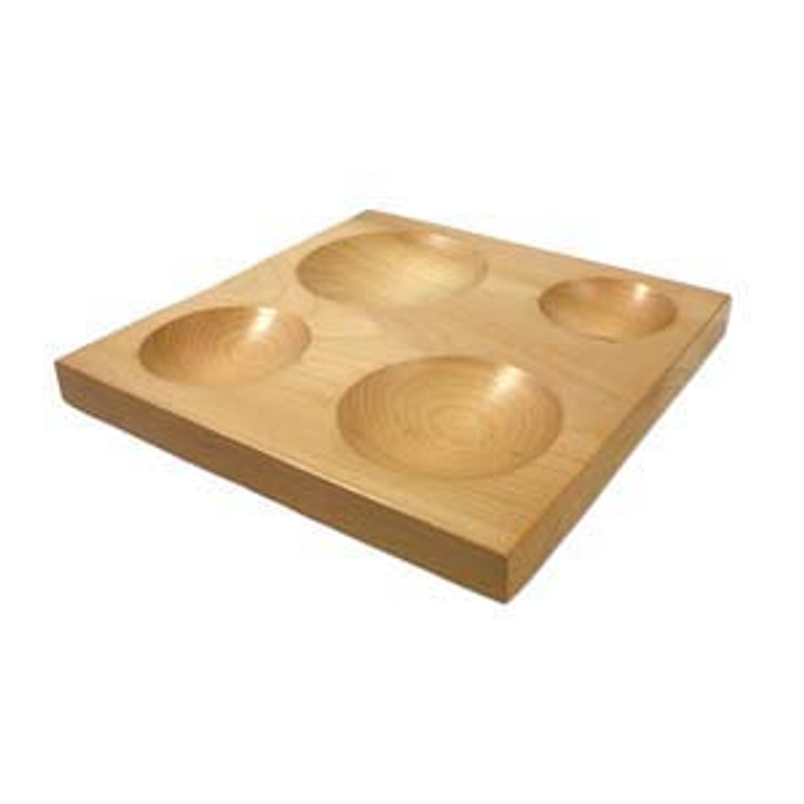 Wood Dapping Shaping Block, 4 Round Depressions