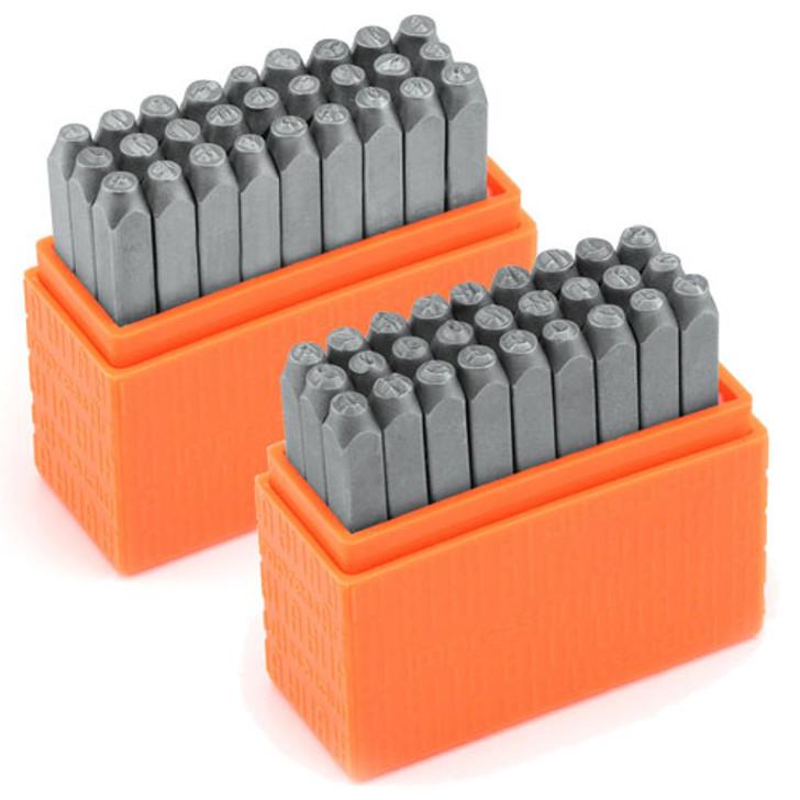 IMPRESSART - Basic Economy Typewriter Upper/Lowercase COMBO Metal Stamp Set  3mm