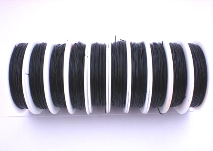 Crystal Tec Black Elastic Beading Thread Cord - Choose Size