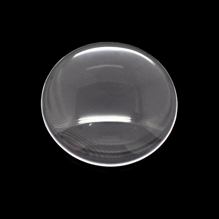16mm Round Clear Glass Cabochon Dome