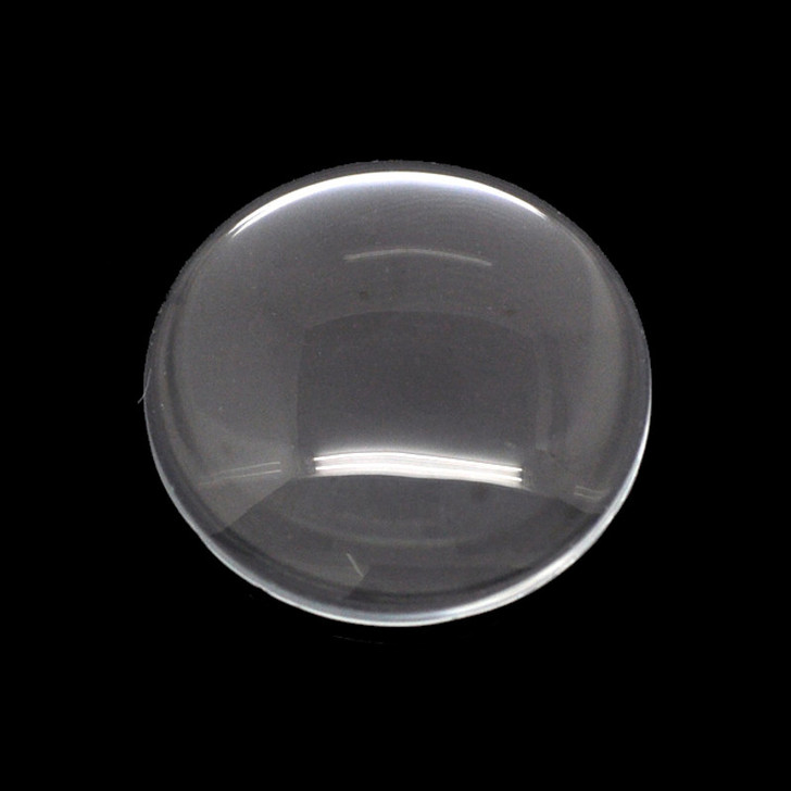 30mm Round Clear Glass Cabochon Dome