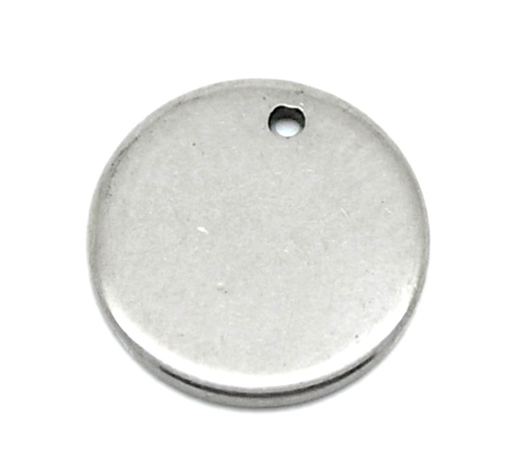 Pack of 10 Stainless Steel Round Stamping Blanks 8mm
